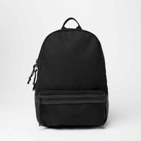 [Bags] Leather and Canvas Backpack in Black