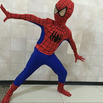 Free Shopping 2016 New Spiderman Costume Children Spider-man Costumes Adults Black Spider-Man Superhero Cosplay Clothing