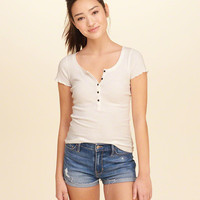 Girls Must-Have Slim Henley | Girls Tops | HollisterCo.com