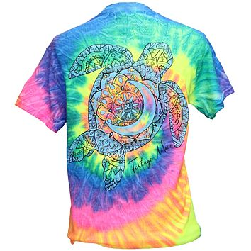 Southern Attitude Tortuga Moon Turtle Tie Dye T-Shirt