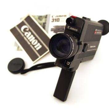 Vintage Film Camera Canon 310 XL Super 8 Movie Fastest Lens. Super 8mm video camera