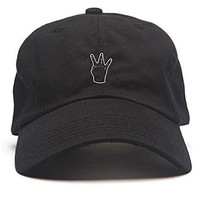 Any Memes Men's Dad Hat West Side Strapback Hat Black