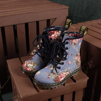 Day-First™ Lace Up Vintage Floral Boots Shoes