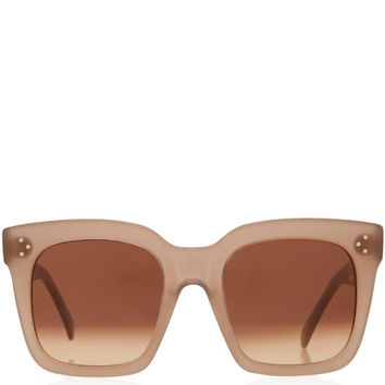 Celine Light Pink Tilda Oversized Sunglasses | Accessories | Liberty.co.uk