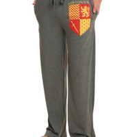 Harry Potter Gryffindor Crest Guys Pajama Pants