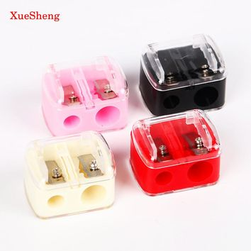 3PCS / Lot Double Holes Pencil Sharpener Makeup Pencil Multi Purpose Mechanical Pencil Sharpener for Office School Supplies