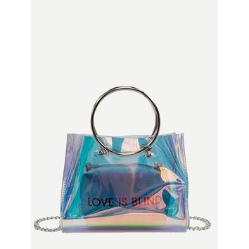 Iridescence Bag With Inner Pouch