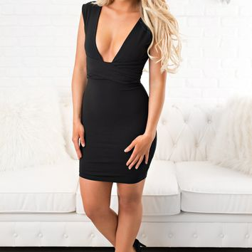Amour Bodycon Dress (Black)