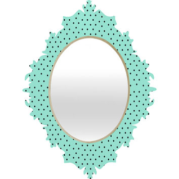 Allyson Johnson Minty Blue Polka Dots Baroque Mirror