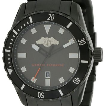 Armani Exchange Black Stainless Steel Watch AX1702