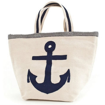 Admiral Navy/Ivory Indoor/Outdoor Tote Bag