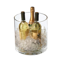 Round Glass Ice Bucket