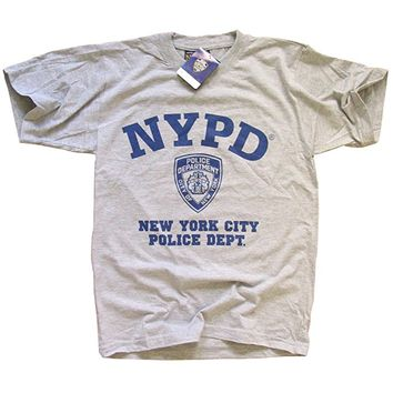 NYPD T-SHIRT New York Police Department Athletic Tee, Gray