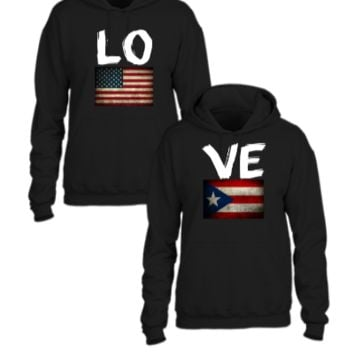 american puertorican flag love couple design