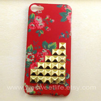 iPod Touch 5 case Bronze Studded iPod Touch 5 case  by wesweetlife
