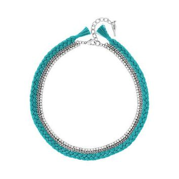 Braided Crystal Collar Necklace by Chloe + Isabel