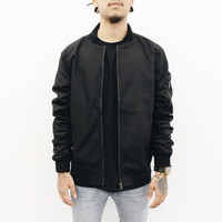 Nyle Bomber Jacket (Black)