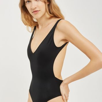 TALL High Leg Plunge Swimsuit | Topshop