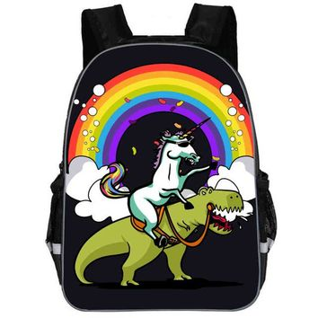 Toddler Backpack class Unicorn Backpack Dab Small Pony Rainbow Horse Teenagers Boys Girls Toddler Animal Kid School Book Bags Men Women Mochila Bolsa AT_50_3
