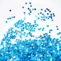 Blue Holographic SOLVENT RESISTANT Glitter STARS - 1 Fl. Ounce for Glitter Nail Art , Glitter Nail Polish and Glitter Crafts