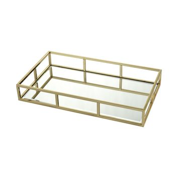 Radcliffe Rectangular Tray Gold,Clear