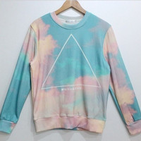 Psychedelic In The Sky Pastel Colors Sweater Sweatshirt
