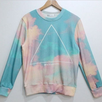 Psychedelic In The Sky Pastel Colors Sweater Sweatshirt = 1919955972