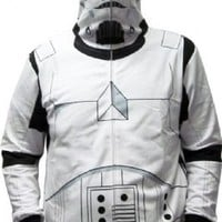 Star Wars Storm Trooper Costume Mask White Adult Hooded Sweatshirt Hoodie Jacket - Star Wars - | TV Store Online