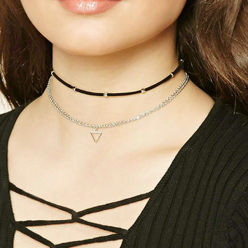 Beaded Geo Choker Set