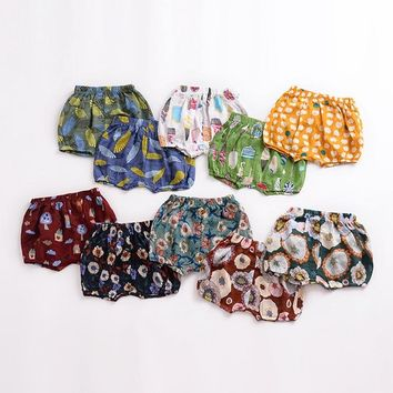 Summer Fashion Baby Girls Boys Bread shorts Newborn Baby bloomers Baby Girl Pattern Shorts toddler Trousers PP Pants Clothes