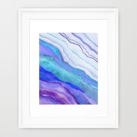 AGATE Inspired Watercolor Abstract 07 Framed Art Print by ViviGonzalezArt