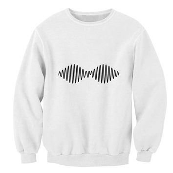 New Arctic Monkey logo sweater White Sweatshirt Crewneck Men or Women for Unisex Size with variant colour