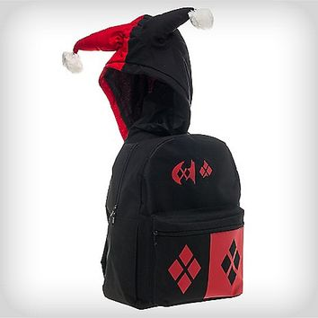 Hooded Harley Quinn Batman Backpack - from Spencers Gifts 6bca9fb464e67