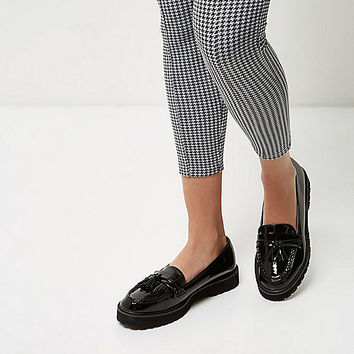 Black patent loafers - flat shoes - shoes / boots - women