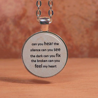 Bring Me the Horizon Can You Hear the Silence Lyrics Song Text Poem Pendant Necklace