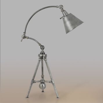 Antique Silver Tripod Harper Table Lamp