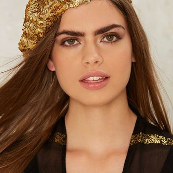 All That Jazz Sequin Beret - Gold