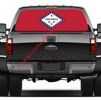 Arkansas State Flag-Rear Window Decal-Graphic