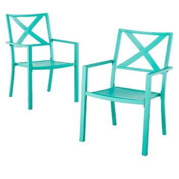 Threshold™ Afton 2-Piece Metal Stacking Patio Chair Set