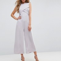ASOS Jumpsuit with Wrap Front and Tie Back at asos.com