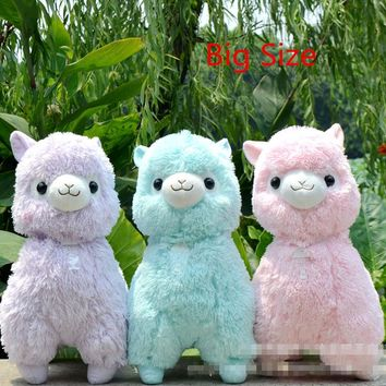 Big Size 45cm Japanese Alpacasso Soft Toys Doll Kawaii Sheep Alpaca Plush Toys Giant Stuffed Animals Toy Kids Christmas Gift