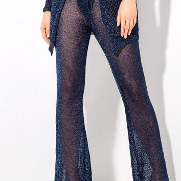 Great Glam Miami Knitted Pants Navy