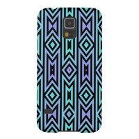 Lilac/Teal Aztec Pattern for Samsung Galaxy S5 @ Zazzle.com