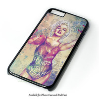 Marilyn Monroe Tattoo Floral Design for iPhone and iPod Touch Case