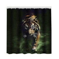Wild Tiger 3D Shower Curtain 180x230cm