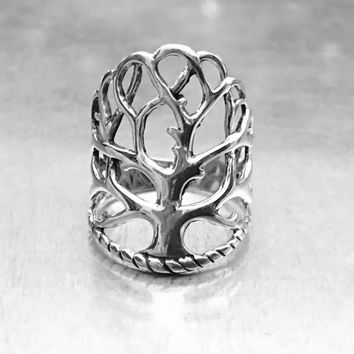 Tree of Life Ring, Sterling Silver Tree of Life Ring, Tree of Life Jewelry, Tree of Life Design, Gifts for Her