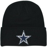 Amazon.com: Dallas Cowboys Basic Knit Black Hat: Sports & Outdoors