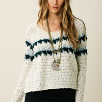 Free People Fuzzy Fairisle Pullover