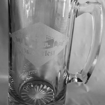 Oktoberfest Giant Custom Beer Mug 28 Ounces Personalized Beer Stein - Personalized Add Your Own Engraved Text Customizable Gift