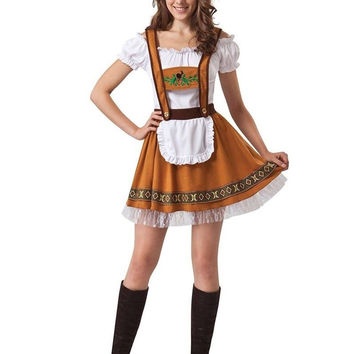 Halloween Maid Service Uniforms Temptation Beer Girl Oktoberfest Costume German